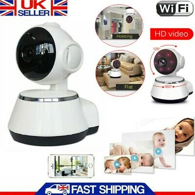 720P HD Wireless IP Camera Home Security WiFi CCTV Dome Camcorder Night Vision • 19.98£