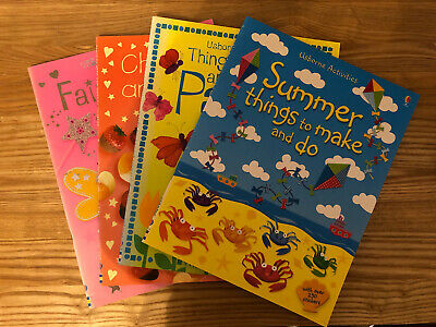 Usbourne Children Make And Do Books Set Of 4 (no Stickers Included) • 3.50£