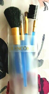 NEW - Pack Of 4 LANCOME COSMETIC BRUSHES: FACE, LIPS, EYES, EYEBROW • 35£