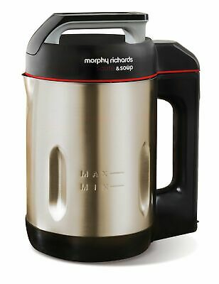 Morphy Richards Saute & Fresh Soup Maker, 501014, Brushed Stainless Steel, 1.6L • 89.12£
