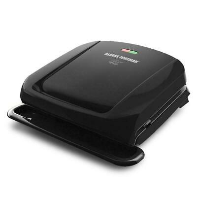 George Foreman 4-Serving Removable Plate Electric Grill And Panini Press, Black, • 29.72£
