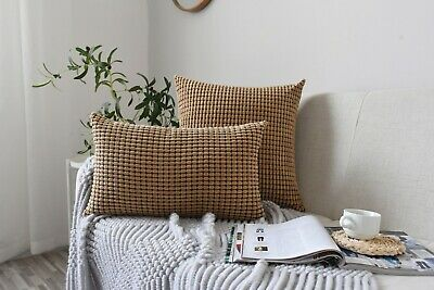 £5.70 • Buy Textured Bobbled Luxury Cushion Cover 50x50cm,20  X20  IKEA Brown Mustard