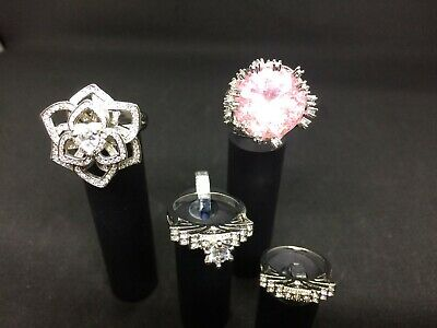 Collection Of Ladies Costume Jewellry Rings Size U And R (SD160J) • 5£
