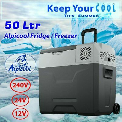 AU329.99 • Buy 50L Portable Freezer Fridge Camping Car Boat Caravan Cooler Refrigerator