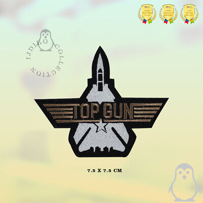 £2.29 • Buy Top Gun Movie Patch Embroidered Iron On Sew On Patch Badge For Clothes