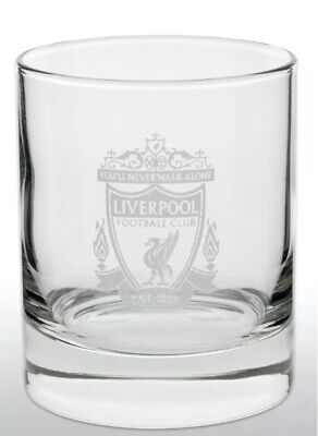 Liverpool FC Official Football Gift Whiskey/ Vodka/ Tumbler Glass • 9.95£