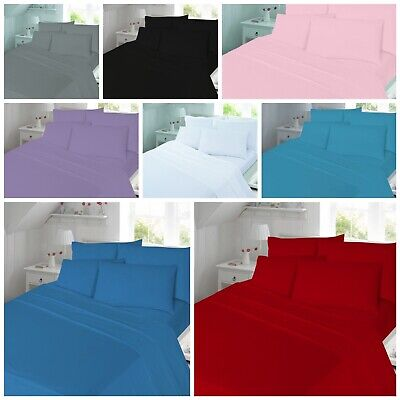 £5.99 • Buy Thermal Flannelette 100% Brushed Cotton Fitted Sheet Or Flat Sheet Or Duvet Set