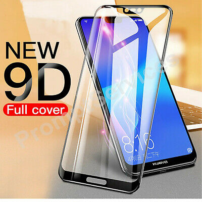 For HUAWEI P20 PRO Lite Full Cover Gorilla Tempered Glass Screen Protector UK • 1.99£