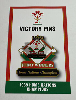 Danbury Mint Welsh Rugby Victory Pin 1939 Home Nations Champions & Fact Card • 6.95£