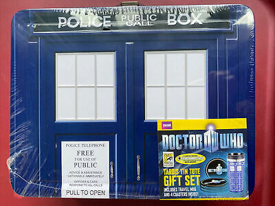 £28.67 • Buy EE BBC Doctor Who Tardis Tin Tote Gift Set SDCC SD COMIC CON Exclusive LUNCHBOX