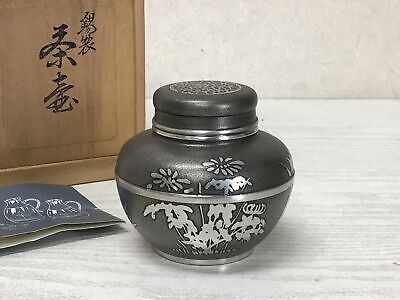 £208.56 • Buy Y2264 TEA CADDY Tin Signed Box Coontainer Japanese TEA Ceremony Antique Vintage