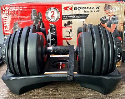 $ CDN380.60 • Buy NEW Bowflex SelectTech 552 Adjustable Single Dumbbell Set - IN HAND 5 To 52 LB