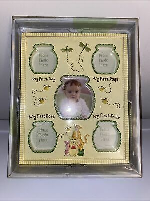 £17.36 • Buy Disney Baby Winnie The Pooh Milestone Picture Photo Frame First Day Steps Bath