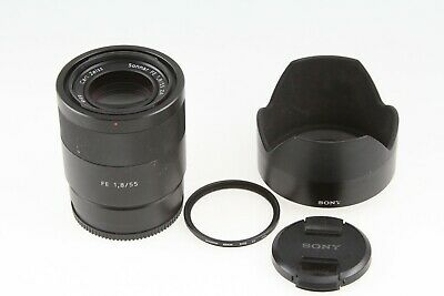 AU871.85 • Buy Sony Zeiss Sonnar T FE 55mm F/1.8 ZA Lens SEL55F18Z With Hood & UV Filter