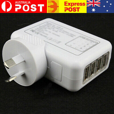 AU15.92 • Buy 5V 2.1A 10W 4 Port USB Travel Home Wall Charger AC Adapter AU Plug For Phone AU