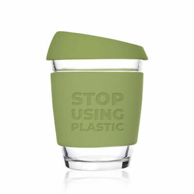 £9.99 • Buy Reusable Coffee Cup   Glass   Keep Cup Style 12oz / 340ml - Stop Using Plastic