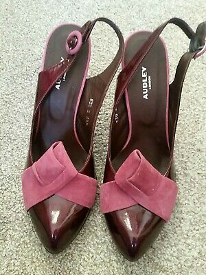 Ladies Sling Back Heeled Shoes By Audley New Size 39.5 SUPER • 25£