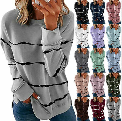 Womens Ladies Plus Size Sweater Jumper Casual Long Sleeve Pullover Tops Shirts • 7.95£