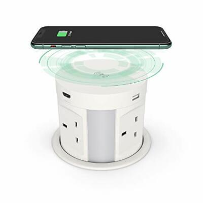 £140.99 • Buy Automatic Pop Up Socket For Kitchen Worktops, Surge Protector, Retractable Power