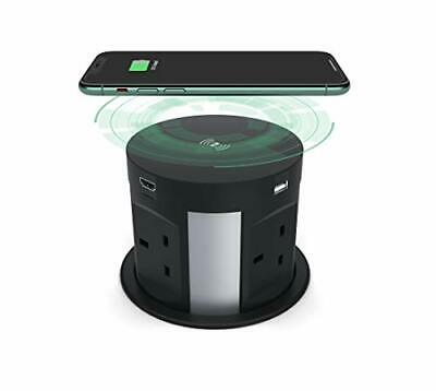 £140.99 • Buy Automatic Pop Up Socket For Kitchen Worktops,Surge Protector, Retractable- BLACK