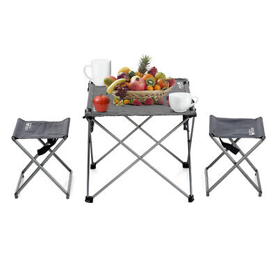 Portable Folding Table With 2chairs Set For Camping Party Picnic Garden J1r9 • 44.02£
