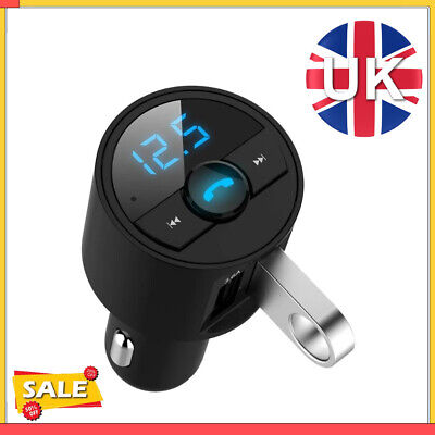 FM Transmitter Bluetooth 5.0 Wireless Handsfree Car MP3 Player 2 USB Charger Kit • 6.88£