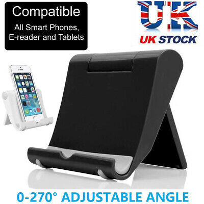 Universal Adjustable Portable Tablet Stand Holder Fit For IPad Kindle IPhones UK • 3.89£