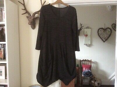 Lovely Lagenlook Italian Ballloon Hem Thick Comfy Dress Will Fit Size 18/24 • 5.50£