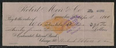 $ CDN5 • Buy Revenue Stamped Paper RN-X7 Oquawka, Illinois. Continental National Bank