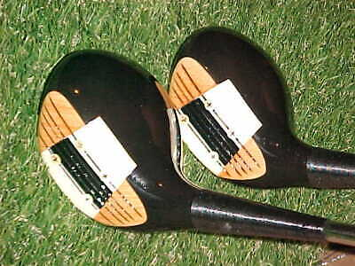 $125 • Buy PERSIMMON WOODS Macgregor Eye O Matic 653T Golf Clubs Set 3 & 4 W New Tour Grips