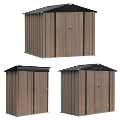 £269.95 • Buy 6x4ft, 8x6ft, 5x3ft Garden Storage Shed Metal Roof Steel Outdoor Tools House New