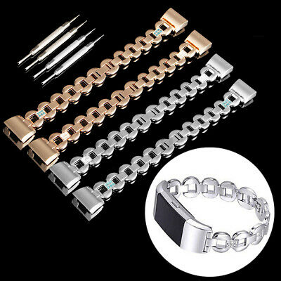 AU13.55 • Buy Metal Bracelet Watch Strap Band Stainless Steel Replacement For Fitbit Charge 2