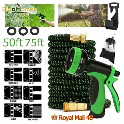 3X SUPER Stronger Expandable Flexible Garden Water Hose+Spray Nozzle Pothook • 25.77£
