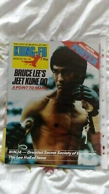 £45.99 • Buy Bruce Lee Kung Fu Monthly Poster Magazine Issue 78 Rare One