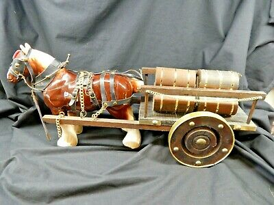 Vintage Ceramic Shire Horse And Cart • 28£
