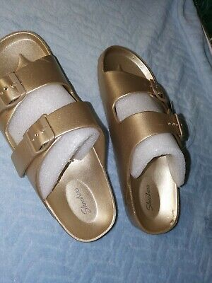 Skechers Slippers/sandals Size UK 7 IN Gold New • 31£