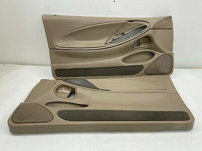 $180 • Buy 1999-2004 OEM Ford Mustang Tan Front Door Panels Medium Parchment Mach460 |S9386