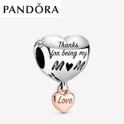 ALE S925 Genuine Silver Pandora Love You Mum Heart Charm With Gift Box 788830C00 • 13.59£