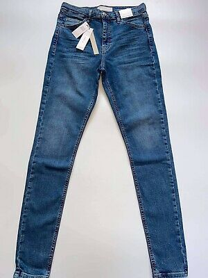 £25.95 • Buy Topshop Jamie High Waisted Skinny Blue Jeans Size 10 W28 L34 BNWT RRP £40