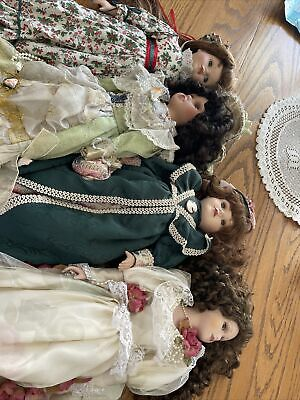 $ CDN61.85 • Buy Porcelain Doll Lot 4 Large Dolls Pre-Owned In Nice Condition.