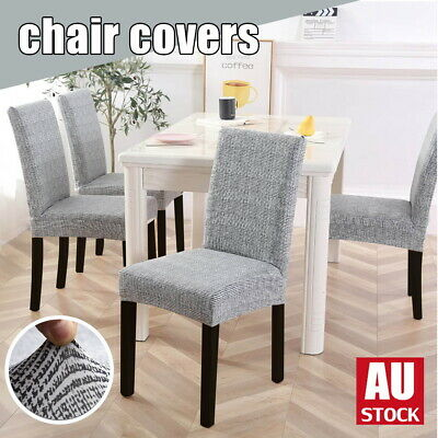 AU28.50 • Buy 1/4/6/8 Stretch Spandex Chair Covers Removable Slipcover Seat Cover Dining Party