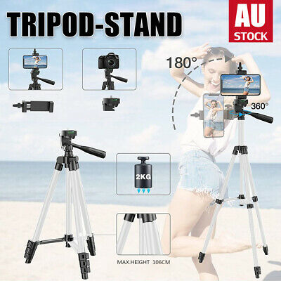 AU17 • Buy Professional Camera Tripod Stand Mount + Phone Holder Remoter For IPhone Samsung