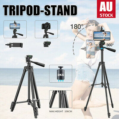 AU13.50 • Buy Professional Camera Tripod Stand Mount + Remoter Phone Holder For IPhone Samsung