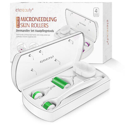 AU14.89 • Buy 3 In 1 Derma Roller 0.5mm,1.0mm,1.5mm Micro Needles For Facial Skin Care Green