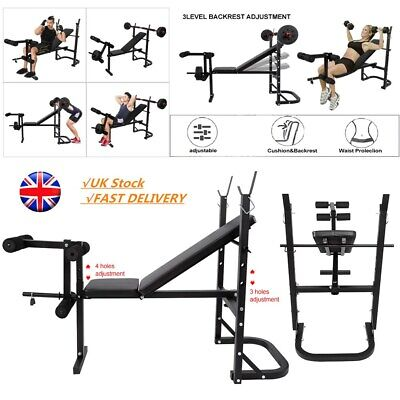 Exercise Black Fitness Flat Weight Lifting Bench Benches Home Gym Bodybuilding • 159.90£