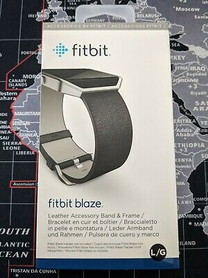 AU13.95 • Buy Official Fitbit Blaze Leather Band Large - Black