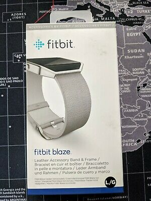 AU13.95 • Buy Official Fitbit Blaze Leather Band Large - Mist Grey