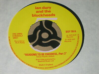 IAN DURY AND THE BLOCKHEADS -  REASONS TO BE CHEERFUL, Part 3  • 0.75£