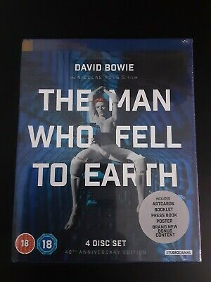 The Man Who Fell To Earth 40th Anniversary Limited Edition Blu Ray New/Sealed • 25£
