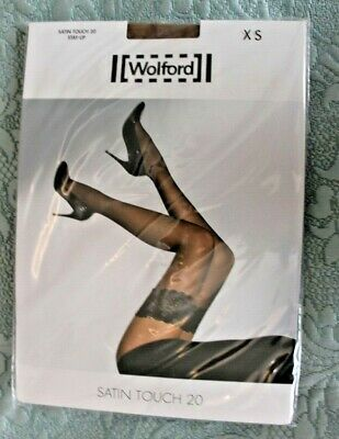 Wolford Satin Touch 20 Hold Up Stockings Mousse (Tan). XS BNIP • 8£
